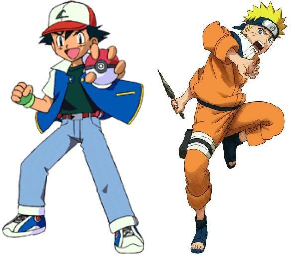 Naruto Colorido ~ Pokemon Vs Naruto GAMBIARRA